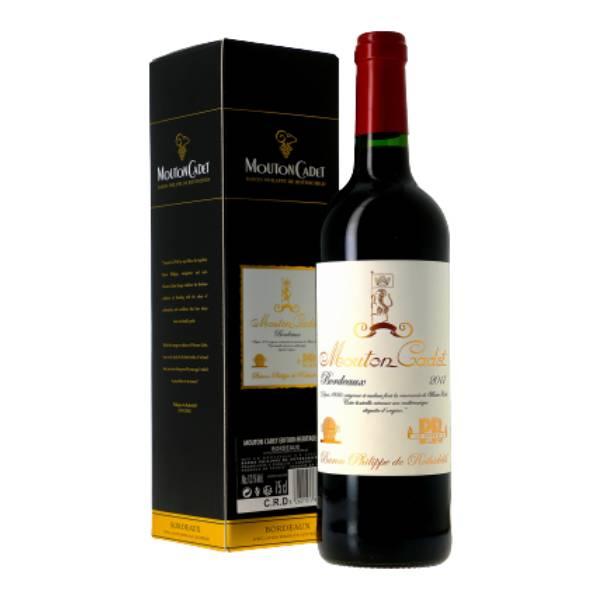 MOUTON CADET BORDEAUX 木桐嘉棣波尔多红葡萄酒礼盒装2017 13度