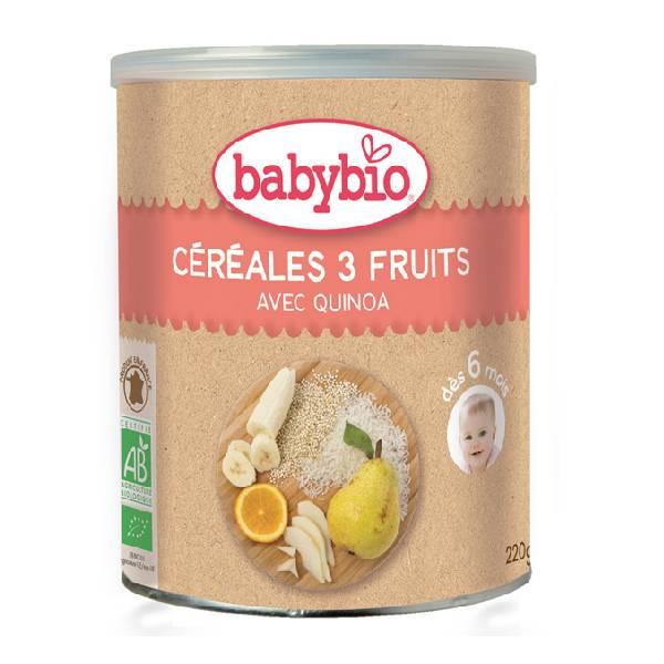 BABYBIO伴宝乐3种水果口味有机谷物婴儿米粉