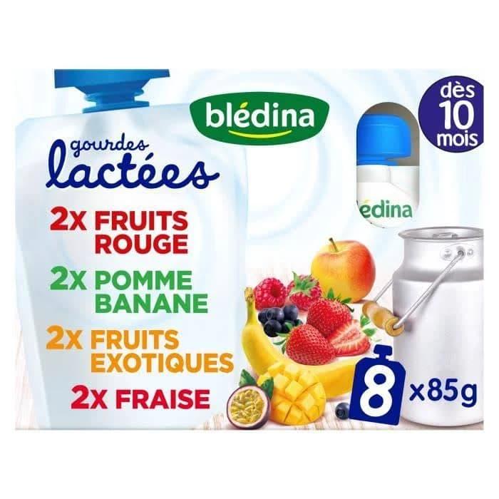 贝乐蒂宝宝营养果泥10个月草莓蓝莓香蕉百香果口味 32x90G